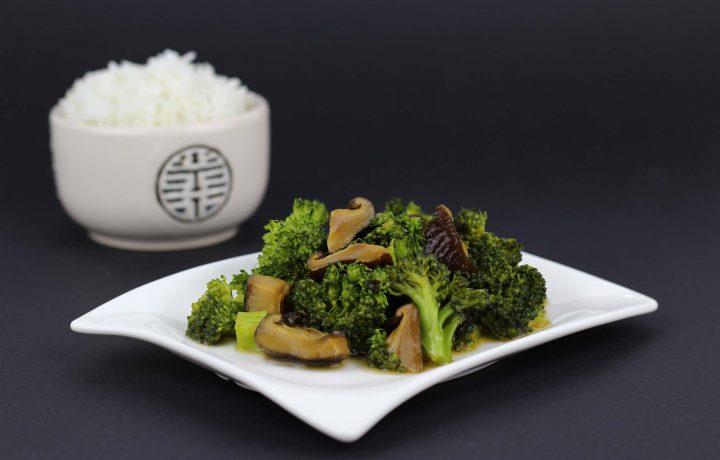 Shiitake con brócoli