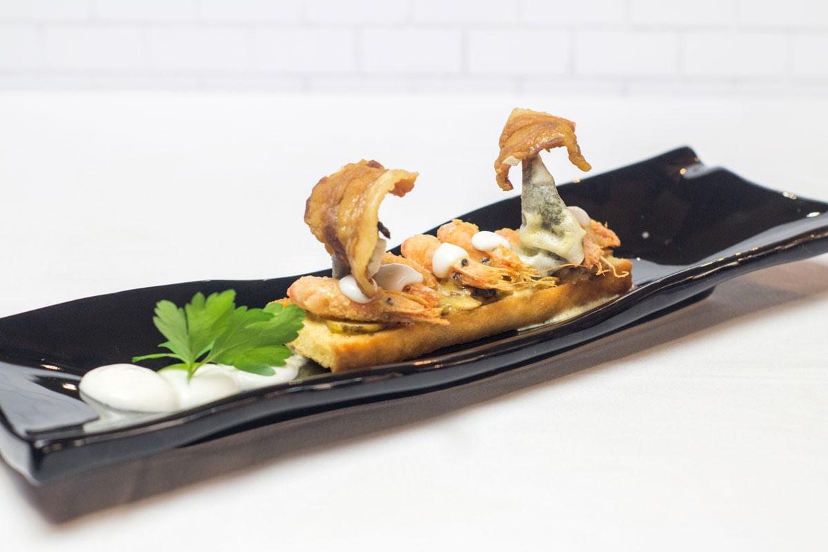 Tapa de Tapería Es-Tapa-Ti III Edición de las Jornadas Gastronómicas de la tapa del champiñón y de las setas de Neofungi en Albacete